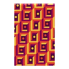 3 D Squares Abstract Background Shower Curtain 48  X 72  (small)