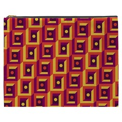 3 D Squares Abstract Background Cosmetic Bag (xxxl)