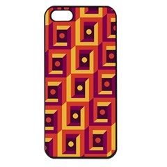 3 D Squares Abstract Background Apple Iphone 5 Seamless Case (black)