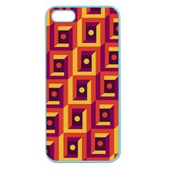 3 D Squares Abstract Background Apple Seamless Iphone 5 Case (color)