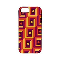 3 D Squares Abstract Background Apple Iphone 5 Classic Hardshell Case (pc+silicone)