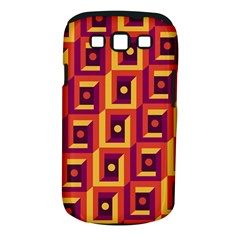 3 D Squares Abstract Background Samsung Galaxy S Iii Classic Hardshell Case (pc+silicone)
