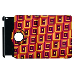 3 D Squares Abstract Background Apple Ipad 2 Flip 360 Case