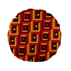 3 D Squares Abstract Background Standard 15  Premium Round Cushions