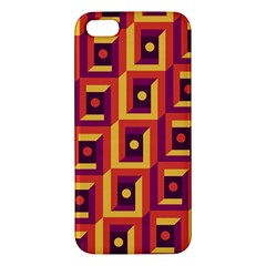 3 D Squares Abstract Background Apple Iphone 5 Premium Hardshell Case