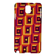 3 D Squares Abstract Background Samsung Galaxy Note 3 N9005 Hardshell Case