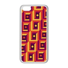 3 D Squares Abstract Background Apple Iphone 5c Seamless Case (white)