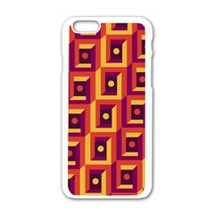 3 D Squares Abstract Background Apple Iphone 6/6s White Enamel Case