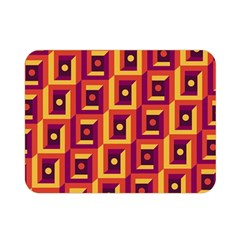 3 D Squares Abstract Background Double Sided Flano Blanket (mini)