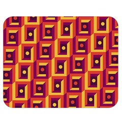 3 D Squares Abstract Background Double Sided Flano Blanket (medium)