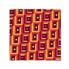 3 D Squares Abstract Background Small Satin Scarf (square)