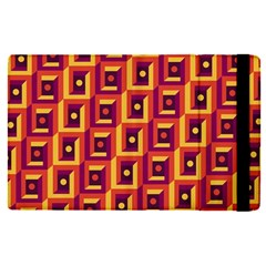 3 D Squares Abstract Background Apple Ipad Pro 12 9   Flip Case