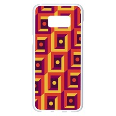 3 D Squares Abstract Background Samsung Galaxy S8 Plus White Seamless Case