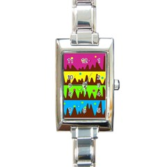 Illustration Abstract Graphic Rectangle Italian Charm Watch