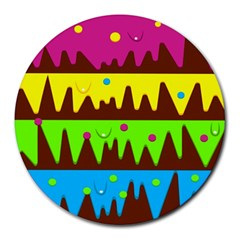 Illustration Abstract Graphic Round Mousepads by Nexatart