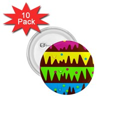 Illustration Abstract Graphic 1 75  Buttons (10 Pack)