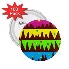 Illustration Abstract Graphic 2 25  Buttons (100 Pack)