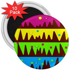 Illustration Abstract Graphic 3  Magnets (10 Pack)