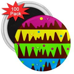 Illustration Abstract Graphic 3  Magnets (100 Pack)