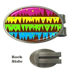 Illustration Abstract Graphic Money Clips (oval)