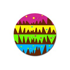 Illustration Abstract Graphic Magnet 3  (round)