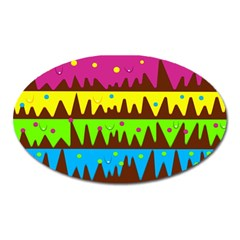 Illustration Abstract Graphic Oval Magnet