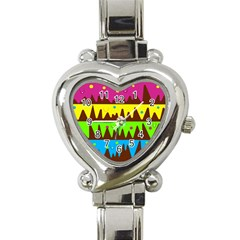 Illustration Abstract Graphic Heart Italian Charm Watch