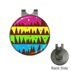 Illustration Abstract Graphic Hat Clips With Golf Markers