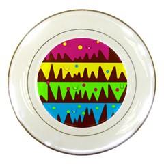 Illustration Abstract Graphic Porcelain Plates