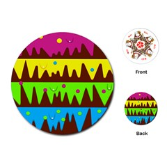 Illustration Abstract Graphic Playing Cards (round)