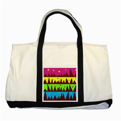 Illustration Abstract Graphic Two Tone Tote Bag