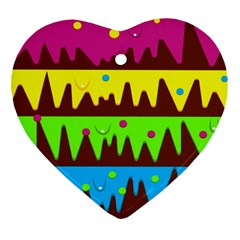 Illustration Abstract Graphic Heart Ornament (two Sides)