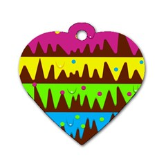 Illustration Abstract Graphic Dog Tag Heart (one Side)