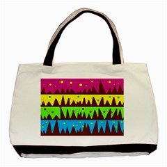 Illustration Abstract Graphic Basic Tote Bag (two Sides)