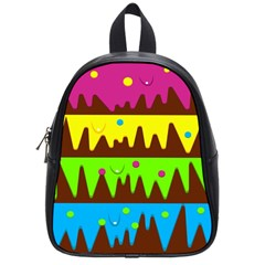 Illustration Abstract Graphic School Bag (small)