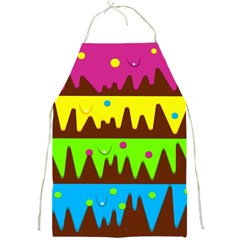 Illustration Abstract Graphic Full Print Aprons