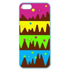 Illustration Abstract Graphic Apple Seamless Iphone 5 Case (color)