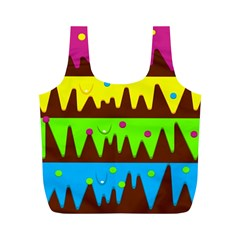 Illustration Abstract Graphic Full Print Recycle Bags (m)