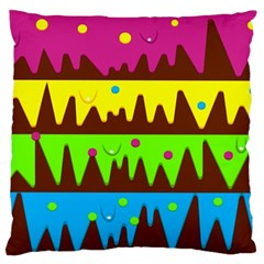 Illustration Abstract Graphic Large Flano Cushion Case (one Side)