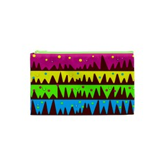 Illustration Abstract Graphic Cosmetic Bag (xs)