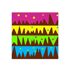Illustration Abstract Graphic Satin Bandana Scarf