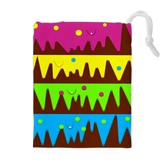 Illustration Abstract Graphic Drawstring Pouches (extra Large)