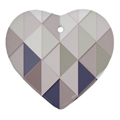 Background Geometric Triangle Ornament (heart)