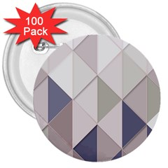 Background Geometric Triangle 3  Buttons (100 Pack)