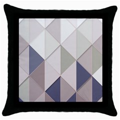 Background Geometric Triangle Throw Pillow Case (black)