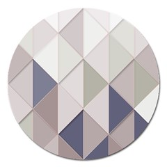 Background Geometric Triangle Magnet 5  (round)