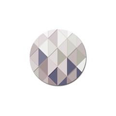 Background Geometric Triangle Golf Ball Marker (10 Pack)