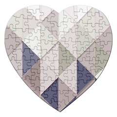 Background Geometric Triangle Jigsaw Puzzle (heart)