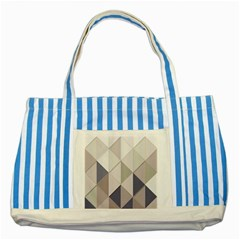 Background Geometric Triangle Striped Blue Tote Bag