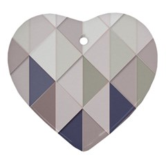 Background Geometric Triangle Heart Ornament (two Sides)